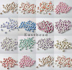 Hot 15pcs Flower Craft Ceramic Porcelain Round Loose Spacer Bead Charms 12mm
