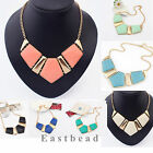 BIG Gems Fashion Necklace Vintage Statement Necklace Chain Chunky Collar Party