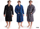 Mens Coral Supersoft Fleece Warm Dressing Gowns Bath Robe In Check Colors