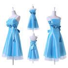 Lady Knee Length Homecoming Ball Gown Bridesmaid Evening Cocktail Party Dress