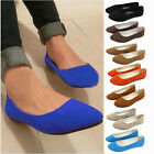 New women Ballerina Loafers suede low to help shallow mouth Pointed wild shoes