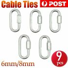 5x Quick Link Galvanized Zinc Quick Chain Repair Links 6 8 mm Rigging Shade Sail