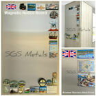 Brushed Stainless Steel Magnetic Notice Board A1 A2 A3 A4 or 600 x 1000mm
