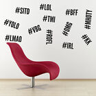 Hashtag Wall Stickers - Pack of 12 Hash Tag Stickers