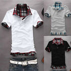 Ideal  Design Mens Slim Fit POLO Shirt Short Sleeve Casual T-shirts Tee