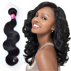 3 Bundles 5A Remy virgin malsysian Body Wave human hair extension black new