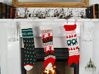 Vintage Knitted Christmas Stocking (55cm) Choice of 3 Designs