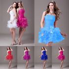 New Short Organza Prom Dress Cocktail Ball Evening Party Dresses Homecoming Gown