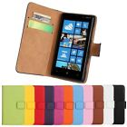 Genuine Stand Folio Flip Wallet Leather Card Hard Case Cover For Nokia Lumia 820