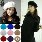 Classic Durable Soft Wool Winter Warm Women Formal Casual Beret Beanie Hat Cap