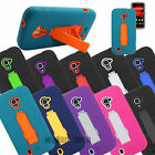 For ZTE Majesty Z796C Source N9511 Impact Stand Hybrid Hard Soft Case Cover