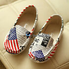 2016 Spring Summer Baby Boy Girl Child Kids Flag Paper Print Flat Soft Shoes