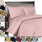 Striped 600 King/California-King Duvet Cover Woven from pure 100%Egyptian Cotton