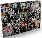 Banksy Montage Special Edition Canvas Print Picture All Sizes