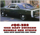 QG-382 1968 DODGE DART SWINGER - BUMBLE BEE STRIPE - FOUR LINE
