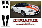 QH-293 & QH-446 1998-02 CHEVY CAMARO SS STRIPE KIT - T-TOP - HAS T-TOP STRIPE