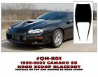 QH-801 1998-02 CAMARO SS - HOOD SCOOP BLACKOUT DECAL - MANTA STRIPE