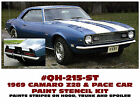 QH-215-ST 1969 CHEVY CAMARO - Z28 & PACE CAR - COMPLETE PAINT STENCIL KIT