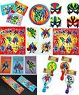 Complete Superhero Hero party Stickers games masks tattoos puzzles pads FREE P+P