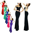 Women V-Neck Backless Long Dress Bridesmaid Evening Party Formal Prom Dress Gown