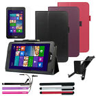 Folio Leather Folding Stand Cover Case Accessory For Asus VivoTab Note 8 (M80TA)