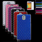 Ne Hybrid Rugged Rubber Bling Crystal Case Cover For Samsung Galaxy Note 3 N9000