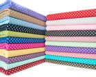 "3MM DOT -POLKA DOTS SPOT FABRIC 100% COTTON 44"" Spotted Craft Metre Fat Quarter"