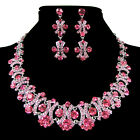 Cheap! New Bridesmaid Bridal Wedding Evening Party Jewelry Sets Earring Necklace