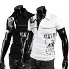 Stylish Design Sexy Mens Slim Fit POLO Shirt Short Sleeve Casual T-shirts Tee 01