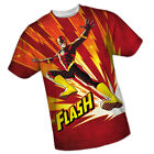 DC Comics The Flash: LIGHTNING FAST - All-Over Front Print Sports Fabric T-Shirt