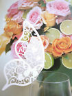 White Luxury Butterfly Glass Pearlescent Place Card Laser Cut Wedding Party P101