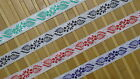 """5.50 Yd Jacquard Trim 1"""" wide Woven Border Sew Embroidered Ribbon Lace T836"""