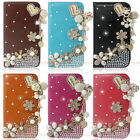 Bling Diamond Love Pendant Wallet Leather Case For iphone Samsung Sony LG HTC