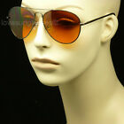 HD HIGH DEFINITION SUN GLASSES DRIVE VISION BLUE RAY BLOCKER LENS AVIATOR AMBER