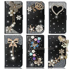 New 3D Black Bling Diamond Wallet Leather Case Cover For Nokia Lumia 520