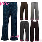 New Plus Size Womens Floral Print Ladies Wide Leg Palazzo Trousers Pants sm-xxl