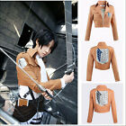 Attack on Titan/Shingeki no Kyojin Scouting Legion Cosplay Costume Jacket Coat