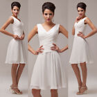 Short Pleated Bridesmaid Ball Gown Cocktail Formal Evening Prom Party Dress 6~20