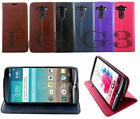 GENUINE LEATHER WALLET BOOK POUCH FLiP COVER WiTH DESK STAND FOR LG G3
