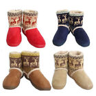 Hot Deerlet Pattern Womens Winter Warm Mid-calf Snow Weather Boots Shoes
