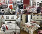 VINTAGE LOOK BEDDING OR CUSHION COVERS SINGLE / DOUBLE / KING LONDON TELEPHONE