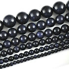 Natural Blue Sand Gemstone Round Ball Spacer Beads 15.5''  4mm 6mm 8mm 10mm 16mm