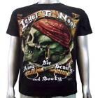 Pirate Crime Sailor Villian Tattoo Skull & Cutlass Sword Men's T-shirt XL & XXL