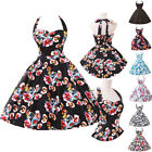 FAST New Floral Housewife Vintage Retro 50s Swing Pinup Rockabilly Wedding Dress