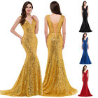 Sparkly SEXY Mermaid Sequins Prom Bridal Gown Mermaid Formal Long Evening Dress