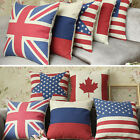 "Union Jack US Canada Flag Cushion Cover Case Or Filled Cushions Pillow 18""/45cm"