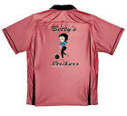 BETTY BOOP STRIKERS Retro Bowling shirt-Classic Pink/Black w/ back pleats-FUN