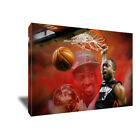 Miami Heat Dwyane Wade Finals DUNK Poster Photo Painting on CANVAS Wall Art on eBay