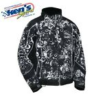 CASTLE X Women's Black/White SWIRLZ TWIST Winter Snowmobile Jacket 72-845_