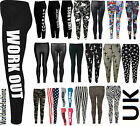 Women Leggings 'Work Out', 'Like a Boss','Homies', 'F**k You', 'USA Flag' New